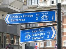 Radverkehr Schilder in London Network